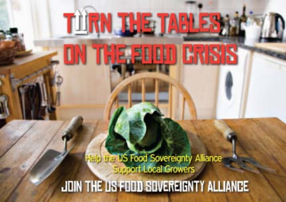 Turn the Tables on the Food Crisis